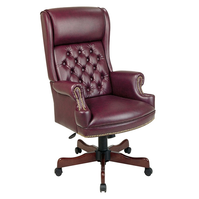 Office Star Executive Chair Deluxe High Back Traditional TEX228 JT4