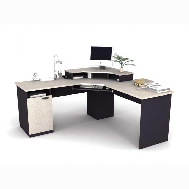 Marvelous Bestar Hampton Corner Desk 69430 Features Desk Grommets For Wire Management.