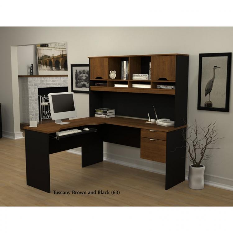 bestar innova l shaped desk 2 options bestar embassy corner desk