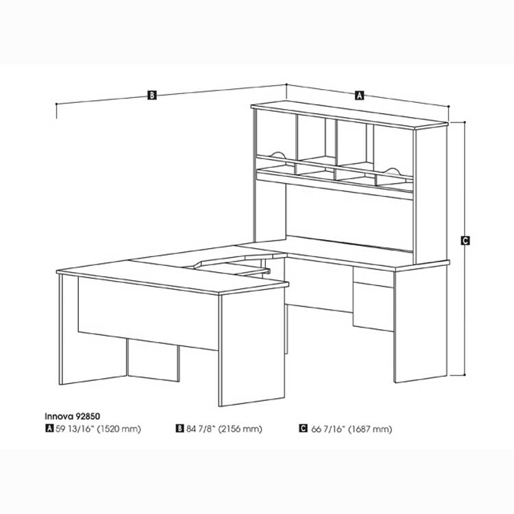 Bestar U Shaped Desk Hostgarcia