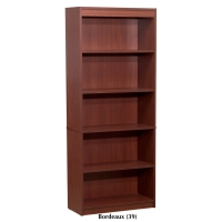 Bestar 5-Shelf Bookcase Bordeaux