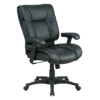 Office Star Deluxe Mid Back Executive Leather Chair