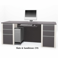 Bestar Connexion Executive Desk Set in 2 Finishes