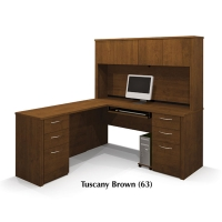 Bestar Embassy L Desk Kit 3 - 3 Finishes