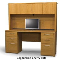 Bestar Embassy Credenza w/Hutch Kit 4 - 2 Finishes