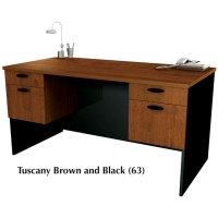Bestar Hampton Executive Desk - Tuscany Brown & Black