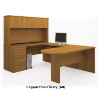Bestar Embassy U Desk with Hutch (2 Finishes)