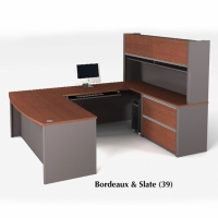 Bestar Connexion U-shaped workstation in 2 Finishes