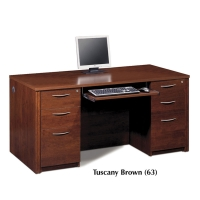 Bestar Embassy Executive Desk Kit with 2 Assembled Pedestals - 2 Finishes