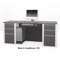 Bestar Connexion Executive Desk Kit - Assembled Pedestals