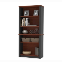 Bestar Prestige Plus Bookcase Bordeaux & Graphite