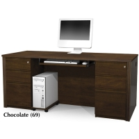 Bestar Prestige Plus Executive Desk Kit w/Assembled Pedestal