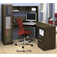 Bestar Jazz Corner Workstation in Tuxedo Finish
