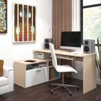 Bestar Modula L Shaped Workstation in 2 Finishes
