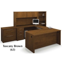 Bestar Embassy U Shaped Kit with Assembled Pedestals - 2 Finishes