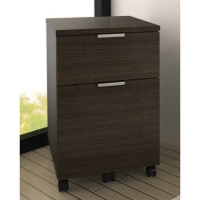 Bestar Contempo Mobile Pedestal in Tuxedo Finish