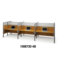 Bestar Pro-Biz Telemarketing Six Workstations 55.5 inches High