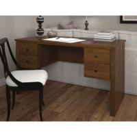 Bestar Somerville Executive Desk with Two Pedestals - 2 Finishes
