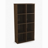 Bestar Dayton Cubby Bookcase - Chocolate
