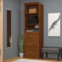 Bestar Versatile 25 inch Storage Unit in White or Tuscany Brown