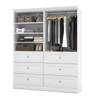 Bestar Versatile 72 inch Storage Kit in White or Tuscany Brown