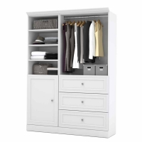 Bestar Versatile 61 inch Storage Kit in White or Tuscany Brown