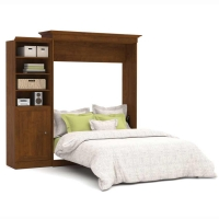 Bestar Versatile 92 inch Queen Wall Bed Kit in Tuscany Brown 40882-63