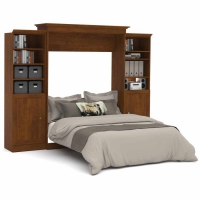 Bestar Versatile 115 inch Queen Wall Bed Kit in Tuscany Brown 40884-63