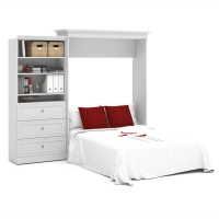 Bestar Versatile 101 inch Queen Wall Bed Kit in White 40885-17