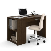 Bestar Acton workstation with Storage -Tuxedo