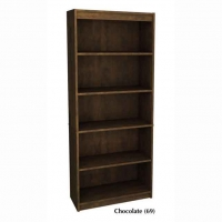 Bestar 5-Shelf Bookcase Chocolate