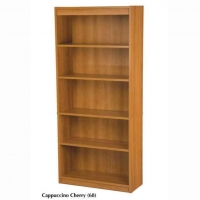 Bestar 5-Shelf Bookcase Cappuccino Cherry