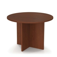 Bestar 42 inch Round Meeting Table - Bordeaux