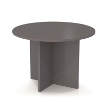 Bestar 42 inch Round Meeting Table - Slate