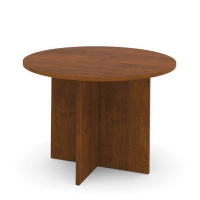 Bestar 42 inch Round Meeting Table - Tuscany Brown
