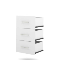 Bestar Nebula 3-Drawer set for 25 inch storage unit in White 25163-1117