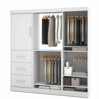 Bestar Nebula 80 inch Storage Kit in White 25850-17