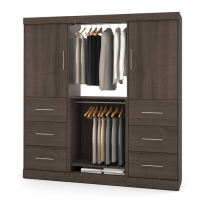 Bestar Nebula 80 inch Storage Kit in Antigua 25854-52