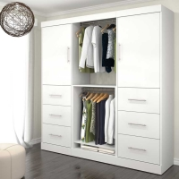 Bestar Nebula 80 inch Storage Kit in White 25854-17