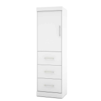 Bestar Nebula 25 inch Storage Unit in White 25871-17