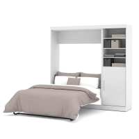 Bestar Nebula 84 inch Full Wall Bed Kit in White 25890-17
