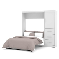 Bestar Nebula 84 inch Full Wall Bed Kit in White 25892-17