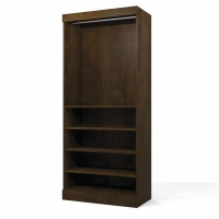 Bestar Pur 36 inch Storage Unit in Chocolate 26160-69