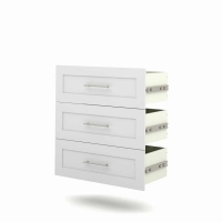 Bestar Pur 36 inch 3-Drawer Set in White 26161-17