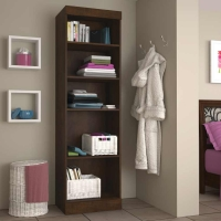 Bestar Pur 25 inch Storage Unit in Chocolate 26162-69
