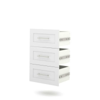 Bestar Pur 25 inch 3 Drawer Set in White 26163-1117