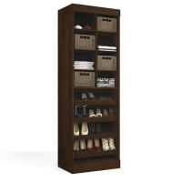 Bestar Pur 25 inch Multi-Storage Cubby in Chocolate 26164-1169