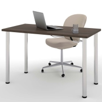 Bestar Work Table with Round Metal Legs - Antigua