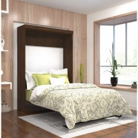 Bestar Pur Full Wall Bed Kit in Chocolate 26183-69