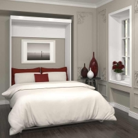 Bestar Pur Full Wall Bed Kit in White 26183-17